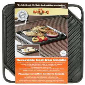 Mr. BarBQ Reversible Cast Iron Griddle