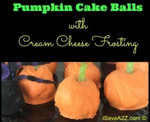 Pumpkin Cake Balls with Cream Cheese Frosting Recipe