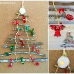 DIY Christmas Tree Made Out of Sticks