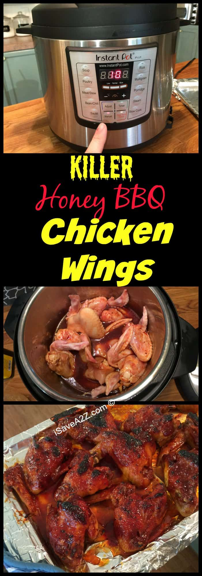 Instant Pot Recipes Honey Bbq Wings Made In An Electric Pressure Cooker Isavea2z Com