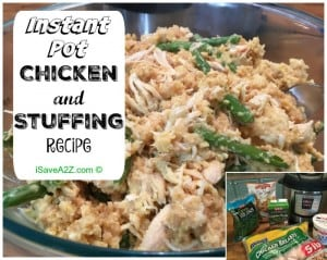 Instant Pot Chicken and Stuffing Recipe