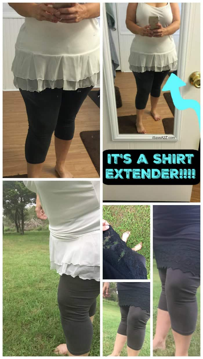 Shirt extenders to cover your butt when you wear leggings