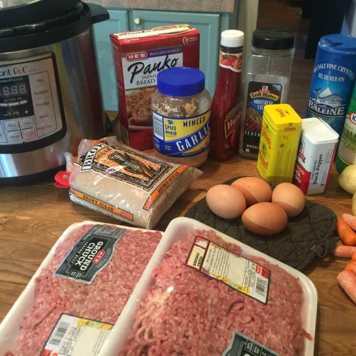 Pressure Cooker Meatloaf ingredients