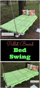 DIY Pallet Board Bed Swing using two pallet boards
