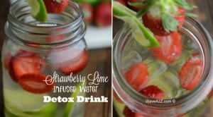 Strawberry Lime Infused Water Detox Drink