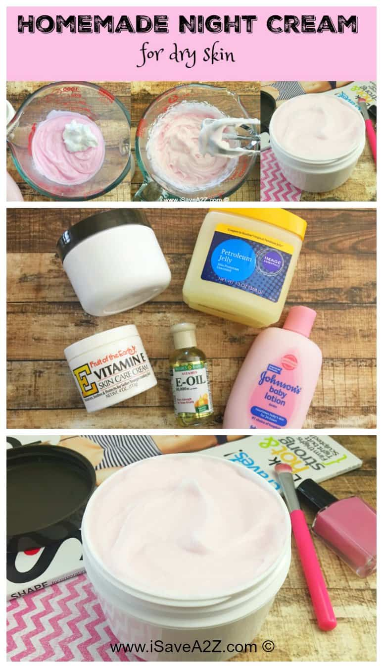 Homemade Night Cream for Dry Skin