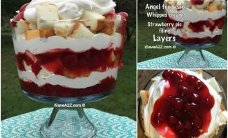 No Bake Strawberry Angel Food Cake