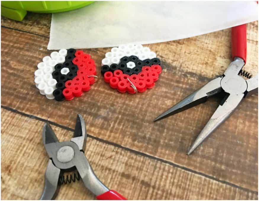 Pokemon Earrings Made Out of Perler Beads