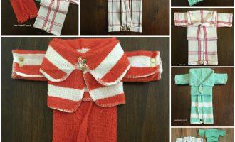Dishcloth Pajamas Housewarming Gift Idea