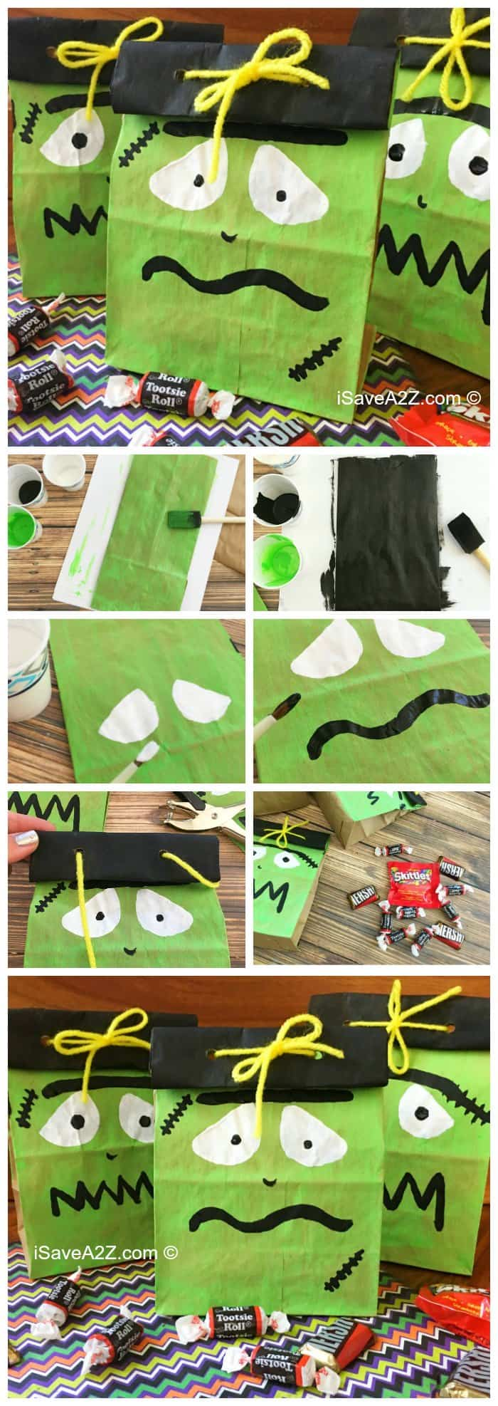 Frankenstein Halloween Treat Bags