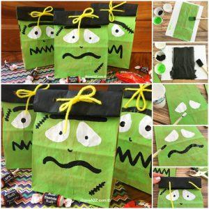 Frankenstein Halloween Treat Bags