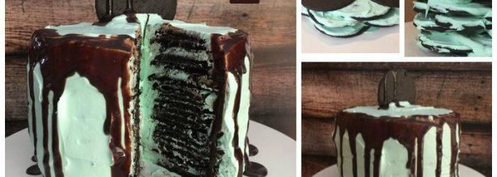 NO BAKE Chocolate Mint Cake