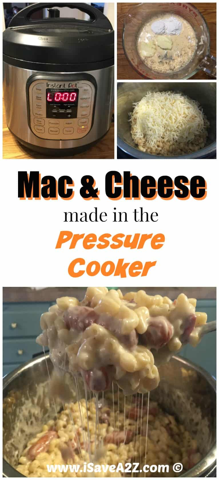 Easy Mac and Cheese made in the Pressure Cooker