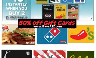 **DEAL ALERT**  Discounted Gift Cards!!
