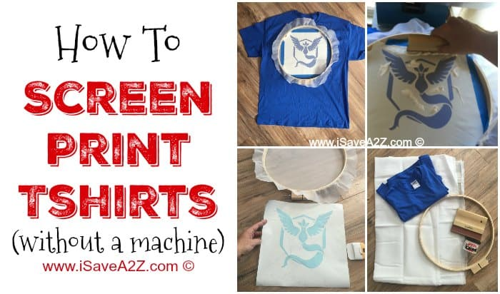 How to screen print tshirts without a machine for Machine to print t shirts