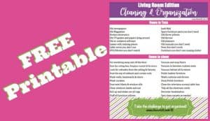 Free Printable Cleaning Checklist