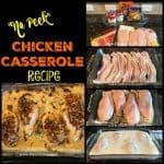 """Easy """"No Peek"""" Chicken Casserole Recipe"""