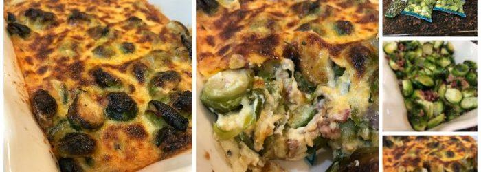 Baked Brussel Sprouts Casserole (Keto Friendly Recipe)