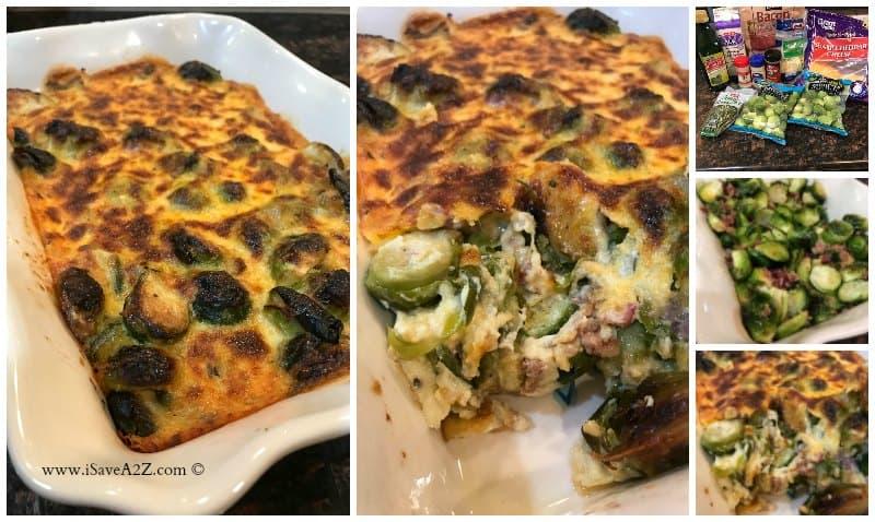 Baked Brussel Sprouts Casserole Keto Friendly Recipe