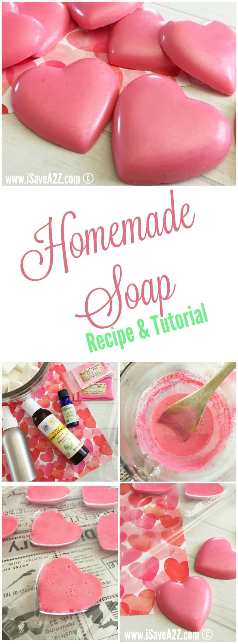 Homemade Soap Recipe (Only 4 Ingredients)!!