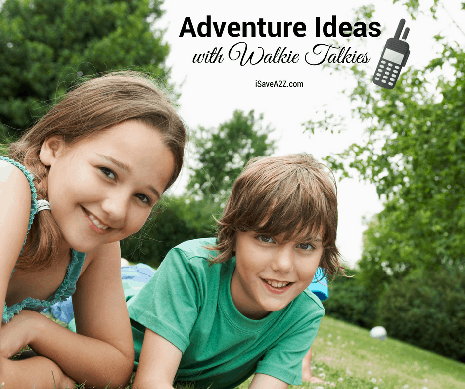 Kids Outdoor Adventure Activities using Walkie Talkies