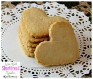 Low Carb Shortbread Cookies - Keto Friendly Recipe