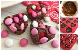 Sweetheart Brownie Bites