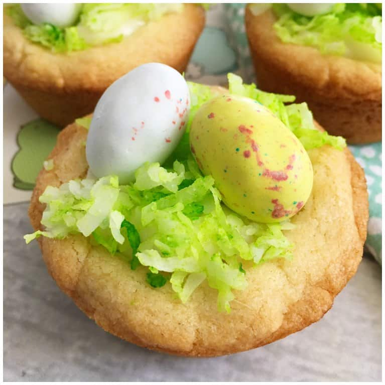 Easter egg bird nest cookie cups recipe isavea2z easter egg bird nest cookie cups recipe forumfinder Image collections